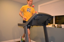 treadmill joggling